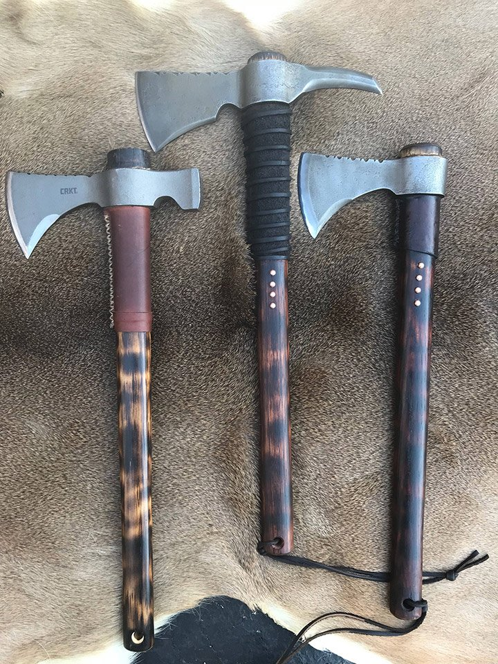 Modded CRKT Woods Tomahawks