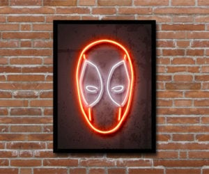 Deal: Deadpool Neon Illusion Print
