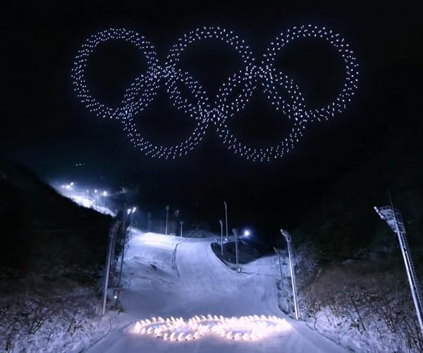Pyeongchang Olympics Drone Display