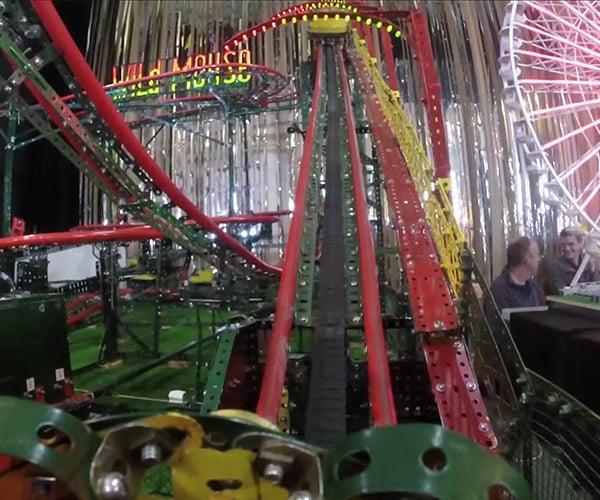 Meccano Roller Coaster POV Ride