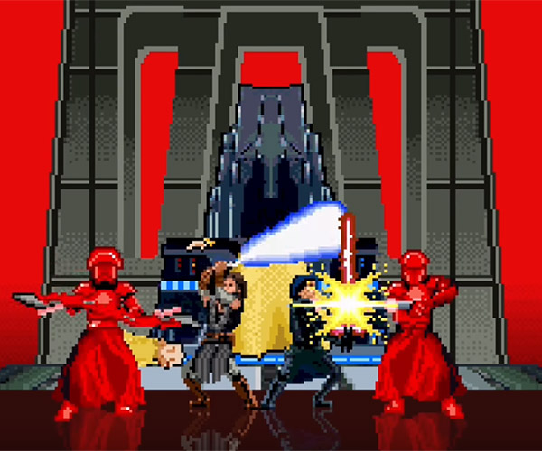 16-bit Snoke's Throne Room Fight