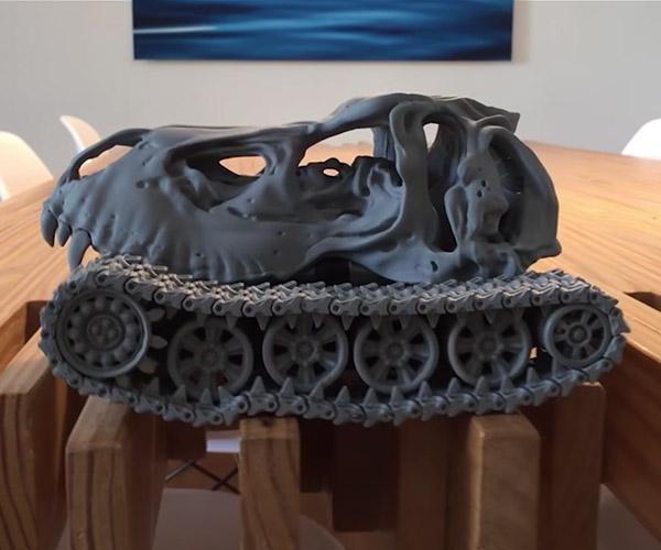 T-Rex Skull Tank