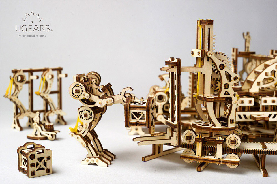 Robot Factory Wood Model