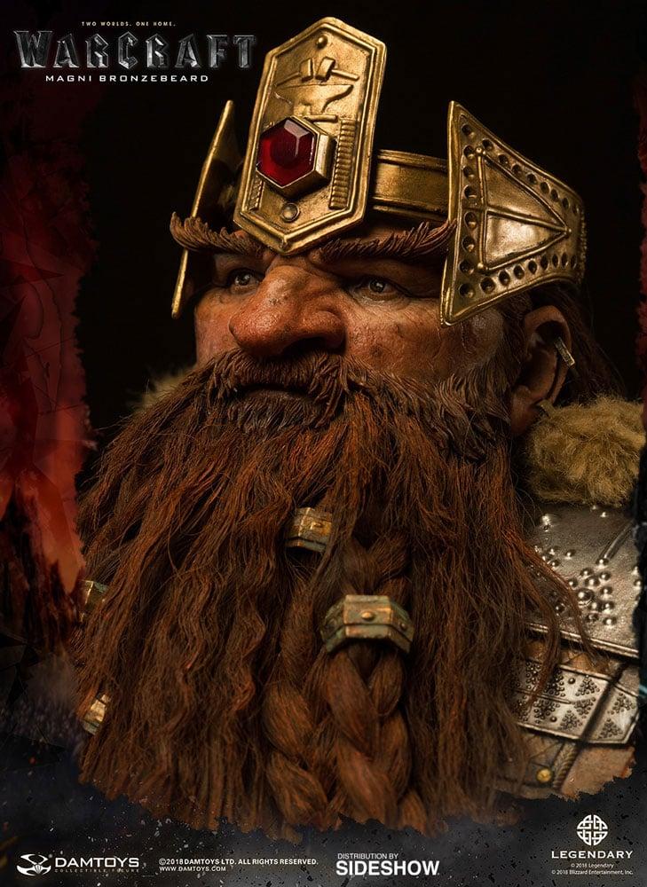 Warcraft Magni Bronzebeard Statue