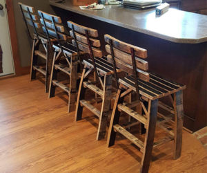 Whiskey Barrel Stools