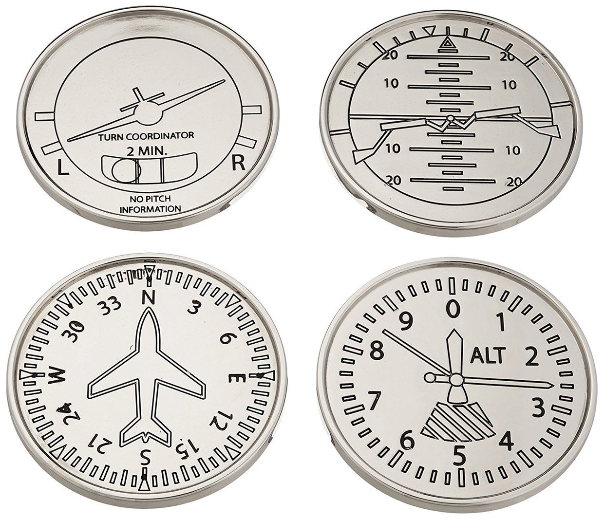 Aircraft Instrument Coasters