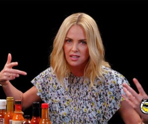 Charlize Theron vs. Hot Wings