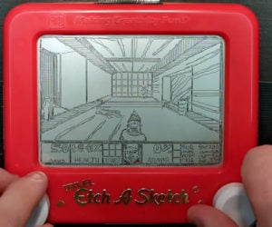 DOOM on an Etch A Sketch
