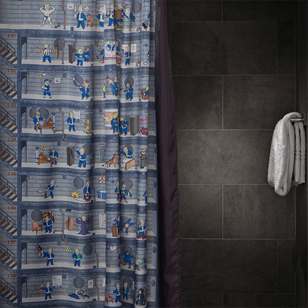 Fallout 4 Shower Curtain