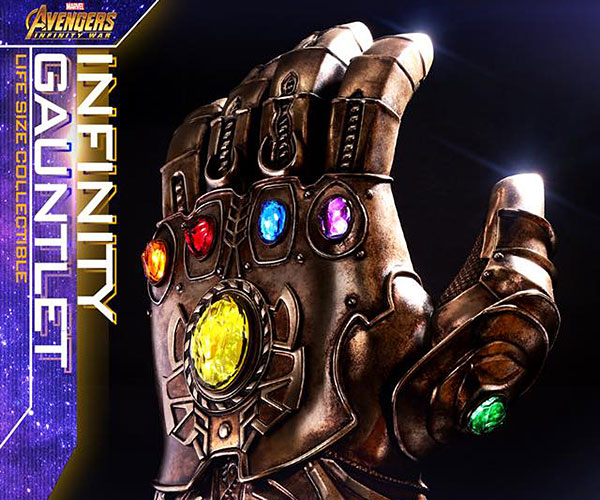 Cool infinity gauntlet on The Awesomer