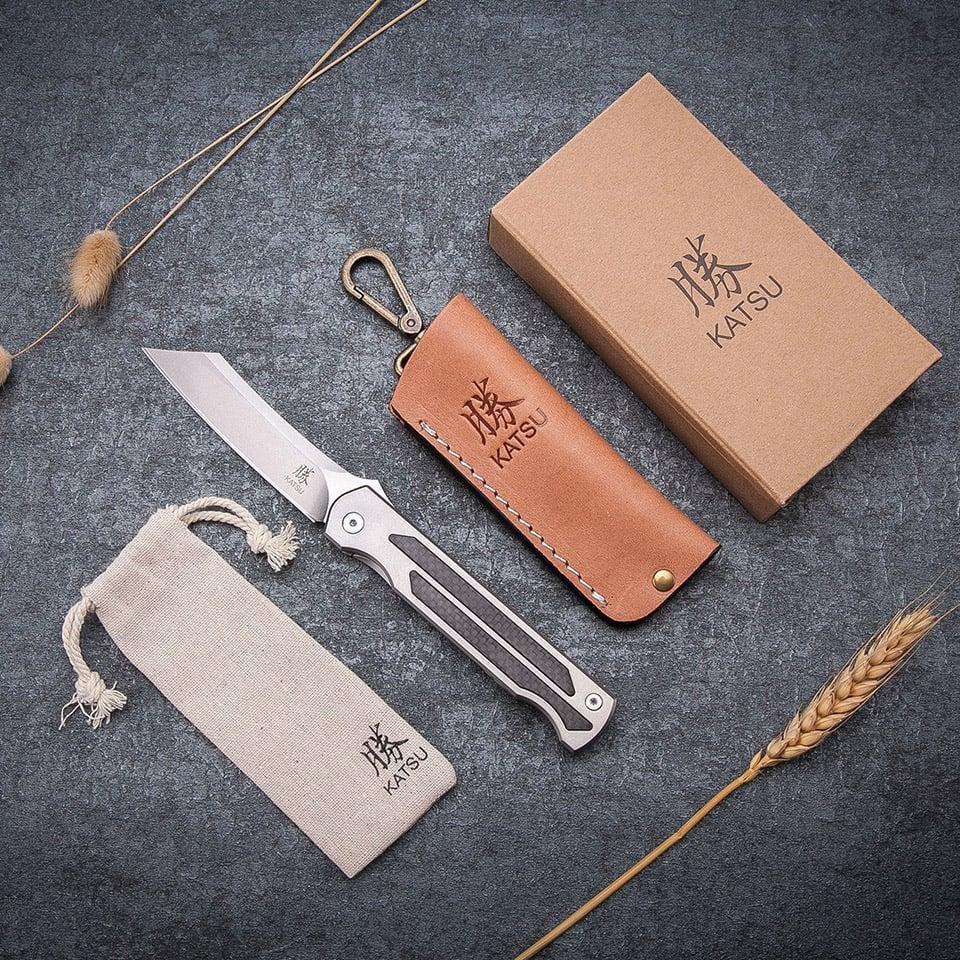 Katsu Carbon/Titanium Folding Knife
