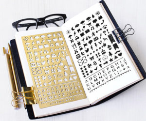 Brass Sketchbook Stencils