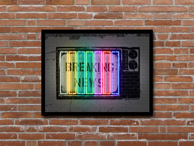 Deal: Neon Illusion Wall Art