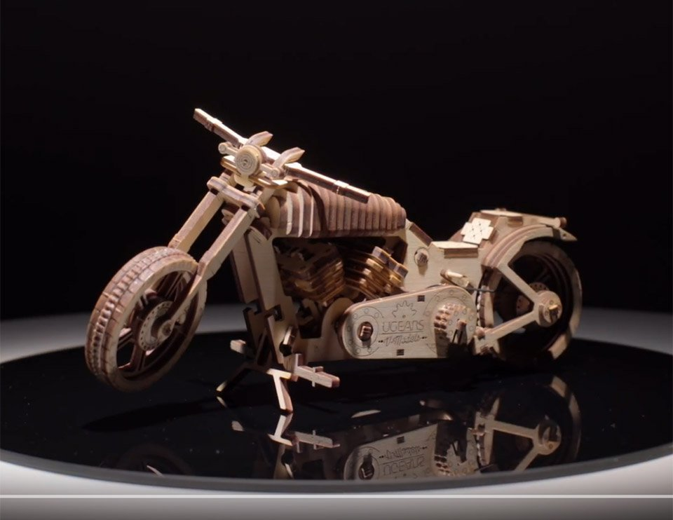 Wooden Motorcycle Model