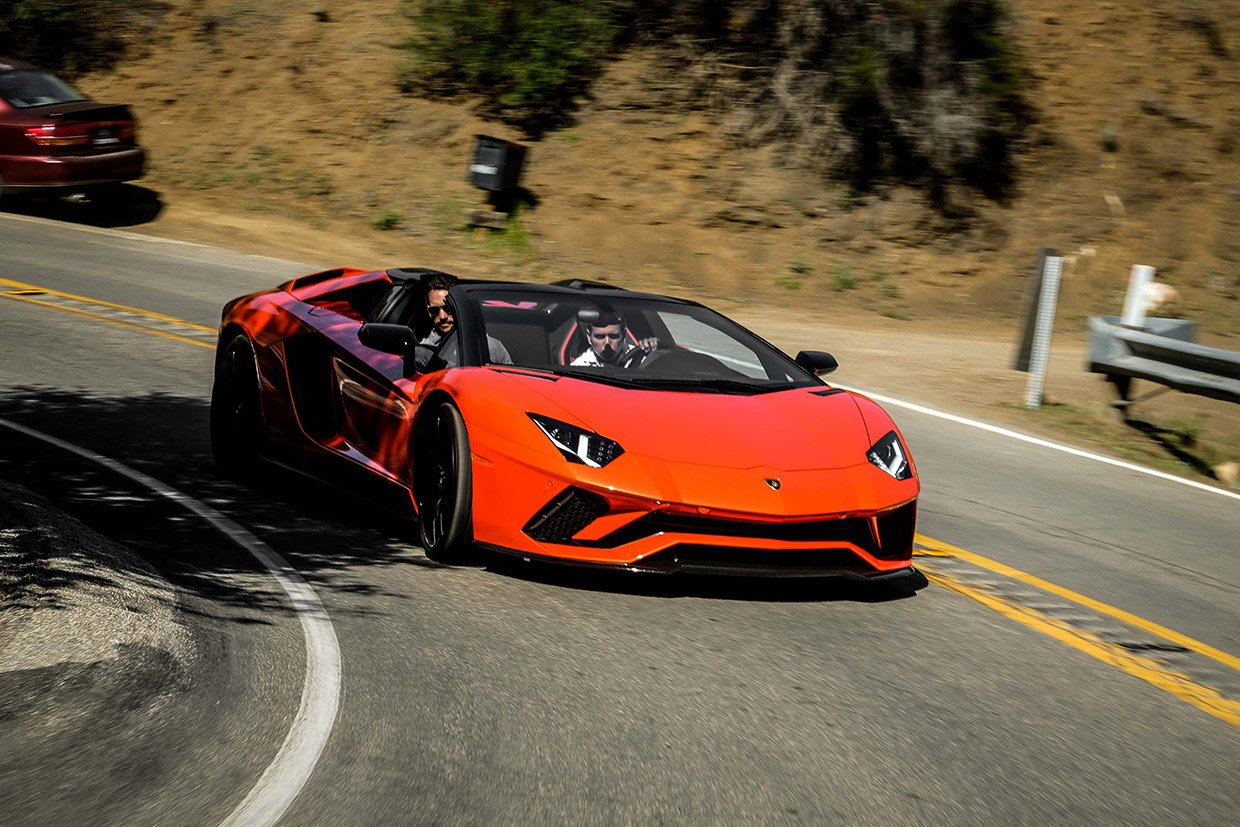 we took the lamborghini aventador s roadster for a ride on mulholland drive. Black Bedroom Furniture Sets. Home Design Ideas