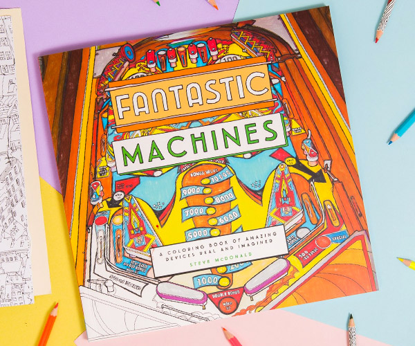 Fantastic Machines Coloring Book
