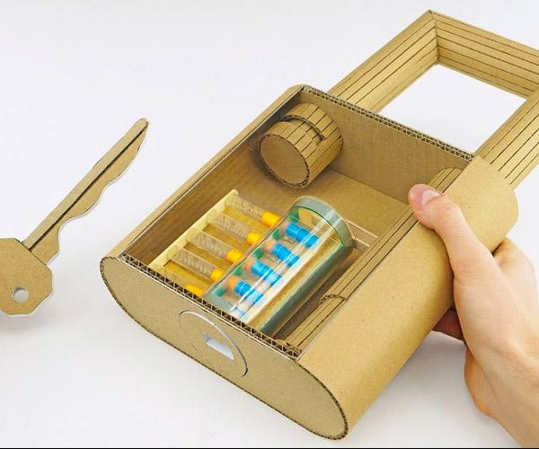 DIY Cardboard Lock