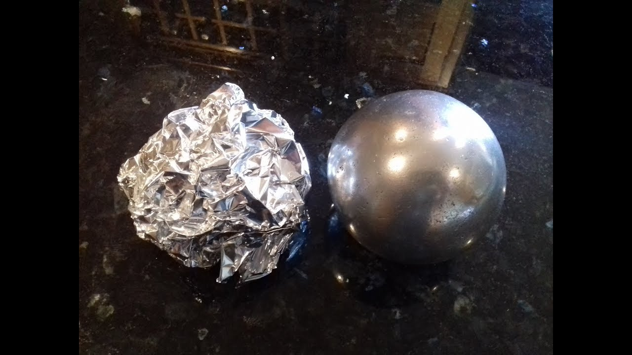 How To Make A Shiny Sphere From Aluminum Foil