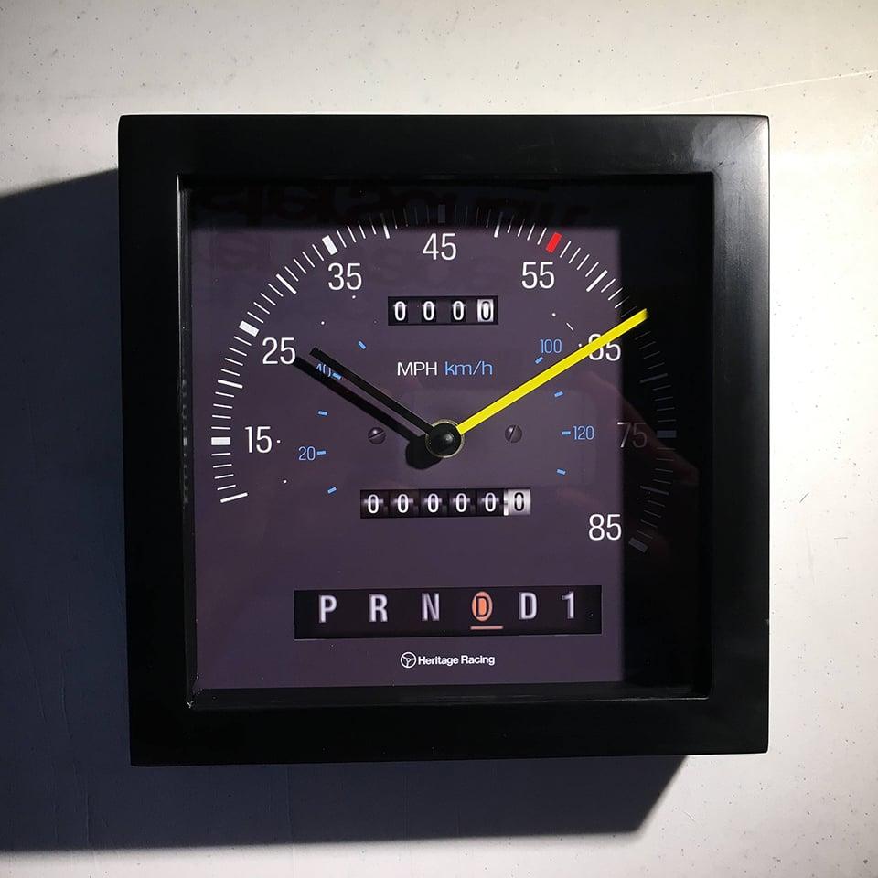 Heritage Racing Speedometer Clocks