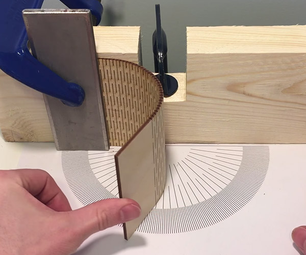 Bending Wood with a Laser