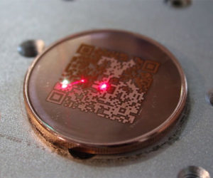 Laser Etching a Bitcoin