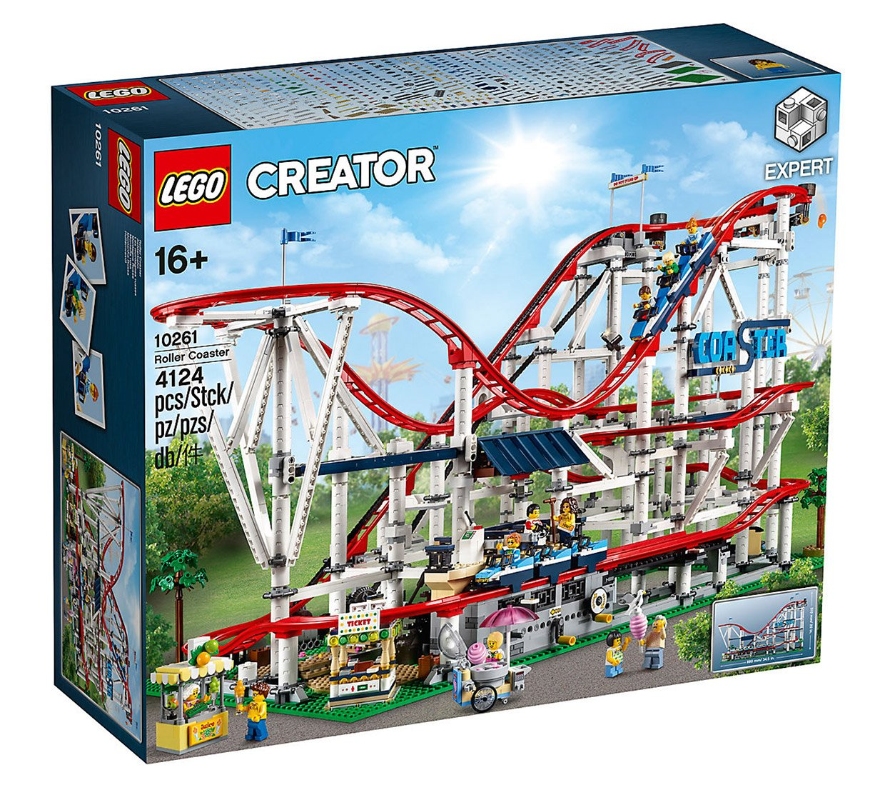 lego creator expert roller coaster set 10261. Black Bedroom Furniture Sets. Home Design Ideas