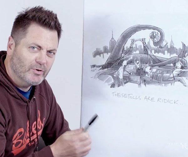 Nick Offerman Captions Cartoons