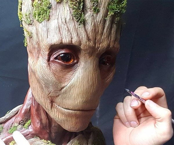 Sculpting Groot
