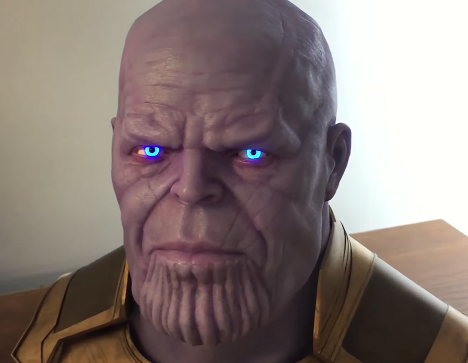 Sculpting Thanos