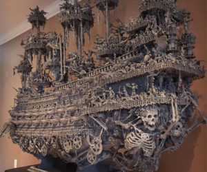 Skeleton Ship Sculptures