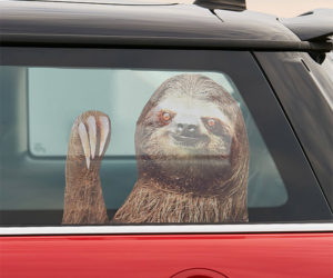 Sloth Car Window Decal
