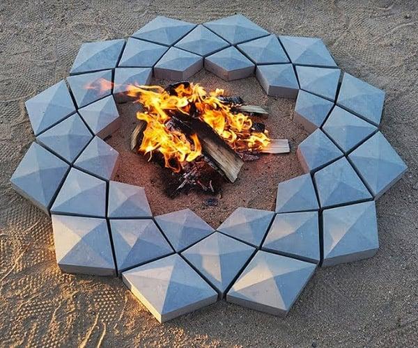 3D Printed Concrete Firepit