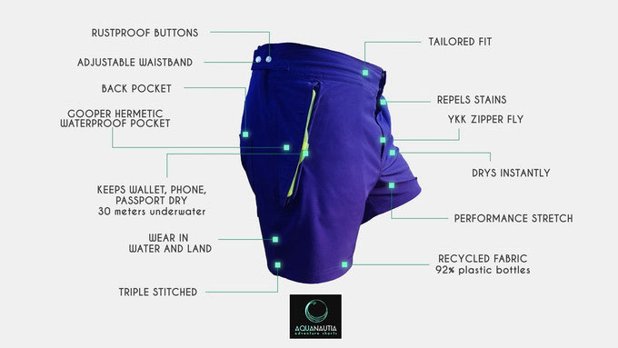 Aquanautia Dry Pocket Shorts