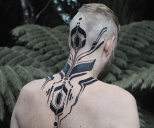 Blackwork Cybernetic Tattoos