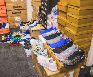 Inside the Warriors' Sneaker Room