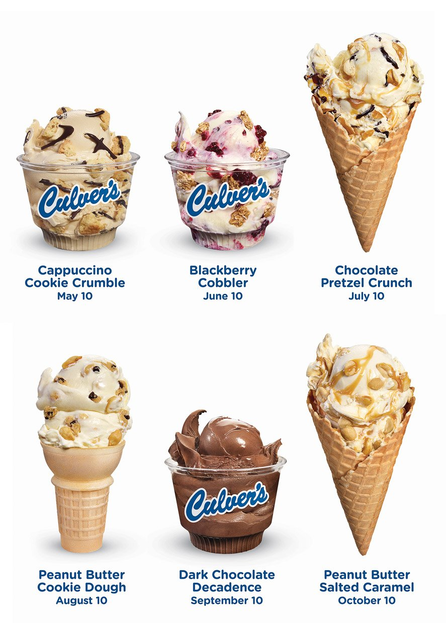 Culver's New Flavors of the Day
