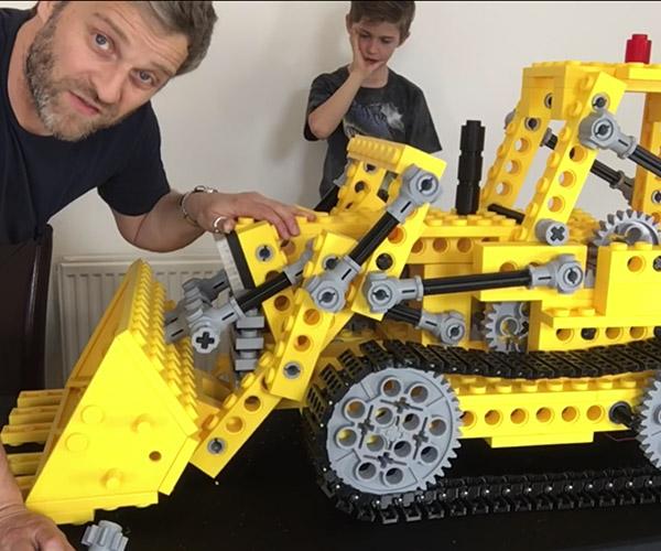 Giant LEGO Bulldozer