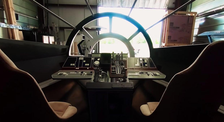 Guys Build A Perfect Replica Of The Millennium Falcon Cockpit