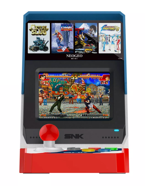 neogeo mini arcade shrinks arcade classics to size