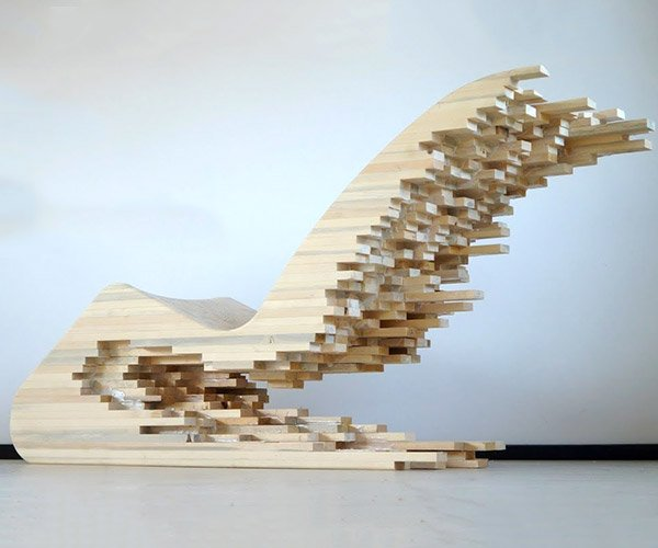 Wooden Pixel Lounger