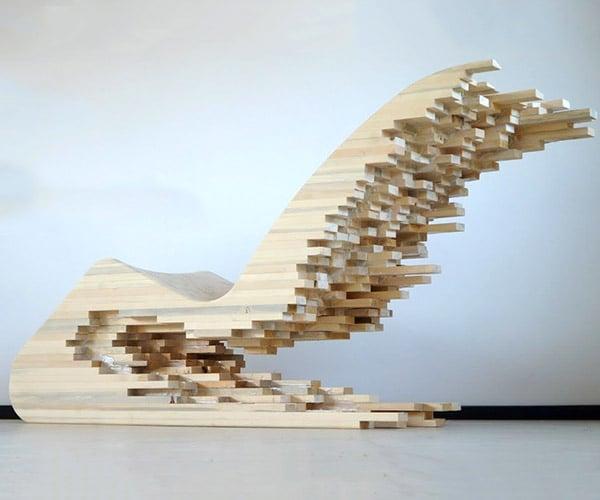 Wooden Pixel Lounger