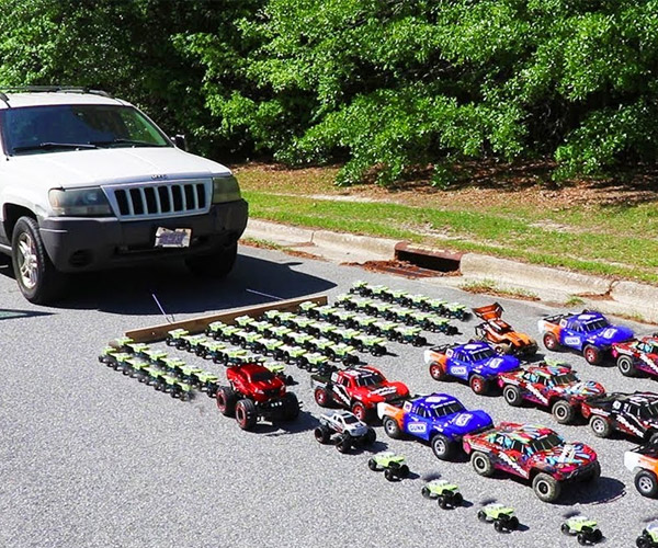 Pulling a Real Car with Toy Cars