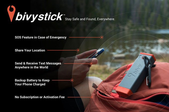 Bivystick Satellite Communicator