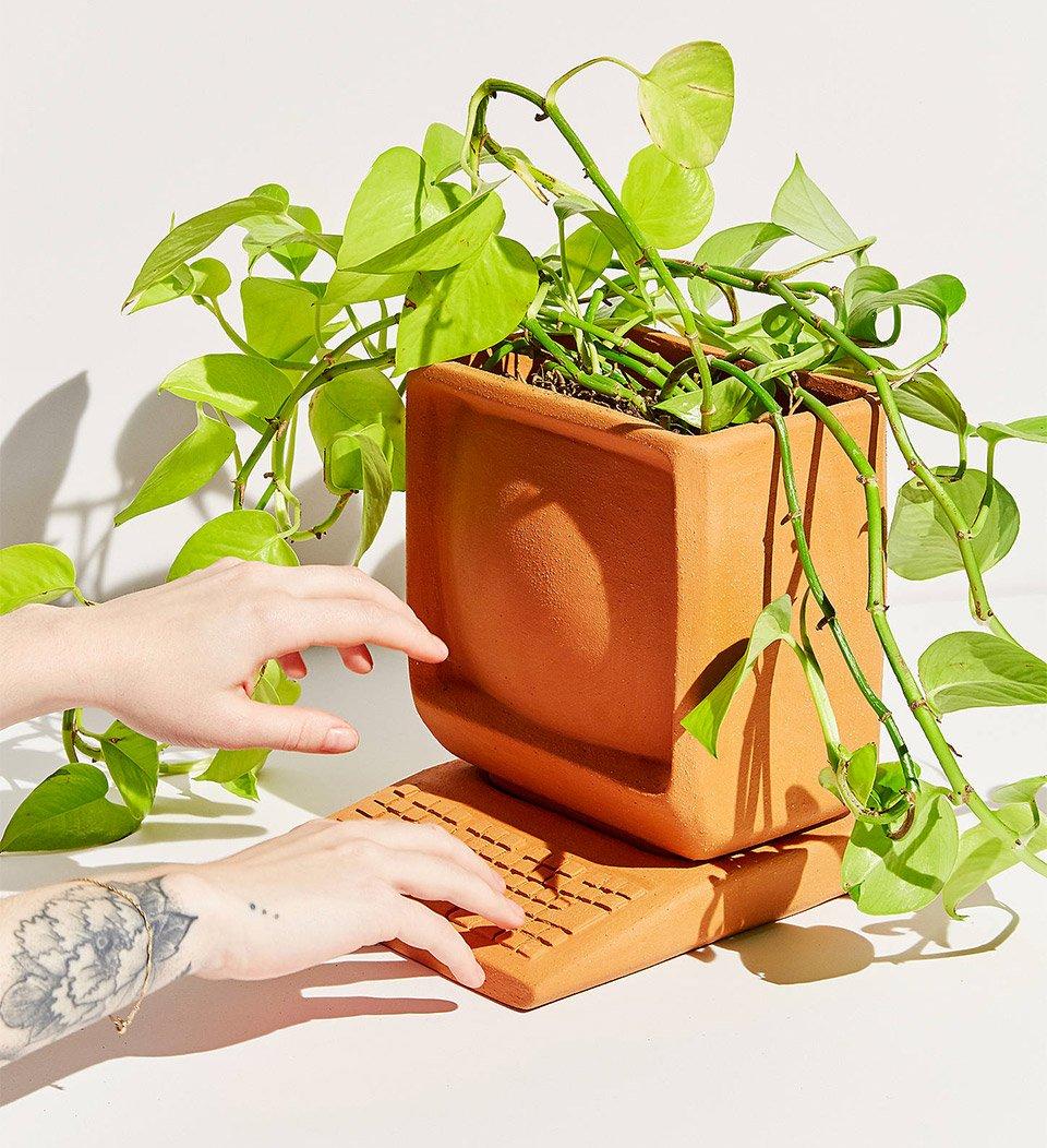 Ceramic Computer Planter