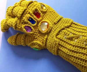 Crocheted Infinity Gauntlet