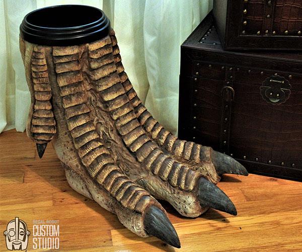 Dragon Foot Waste Basket