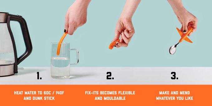 FixIts Moldable Plastic