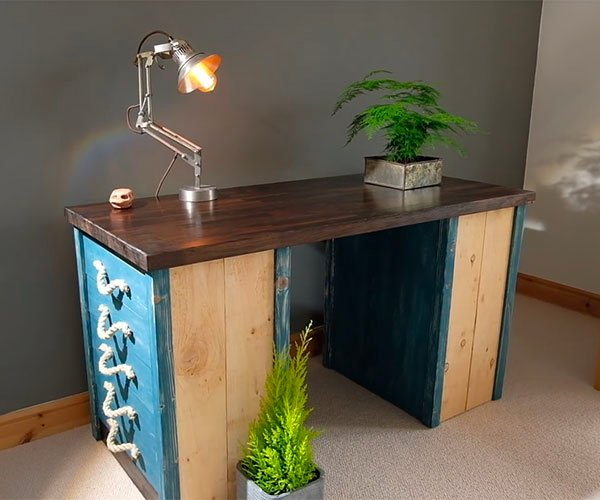 How to Make a Rustic Desk from Scratch