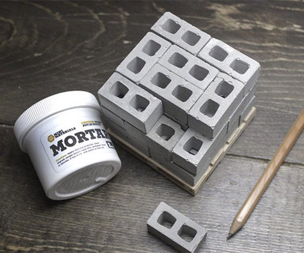 Deal: Mini Cinder Blocks & Mortar