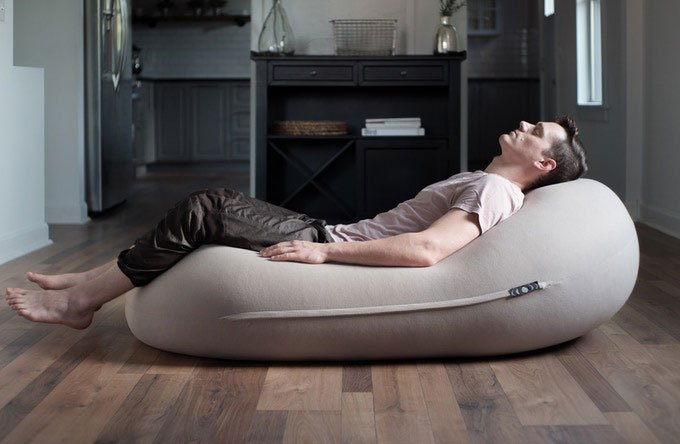 Awesome The Moon Pod Beanbag Makes It Easier To Rest And Relax Ncnpc Chair Design For Home Ncnpcorg